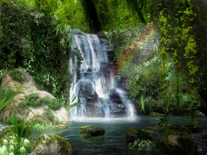 3D Waterfall Screensaver The water of life is flowing from our Heavenly Mother God.